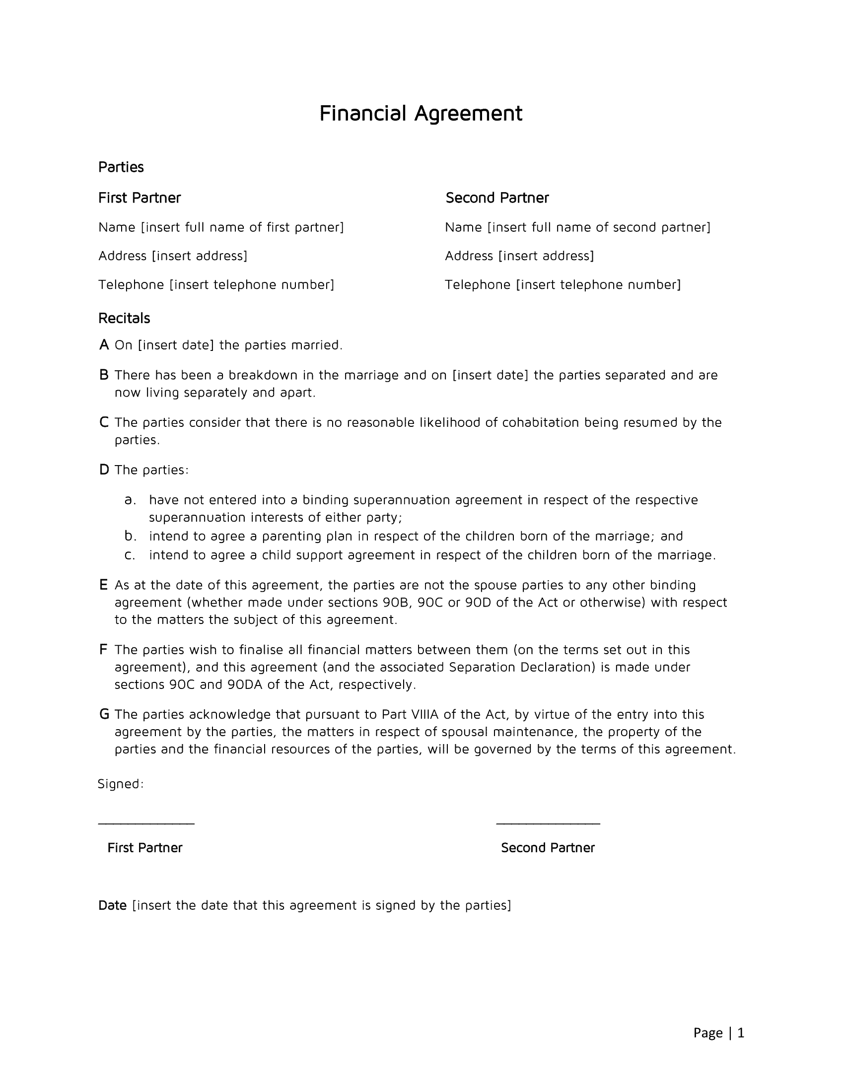 Disclaimer Agreement Template