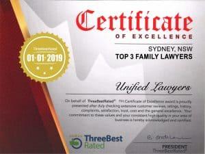 Sydney Family Lawyers Award